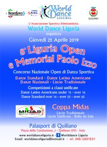 8° Liguria Open e Memorial Paolo Izzo